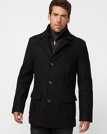 Melton Water Resistant Car Coat