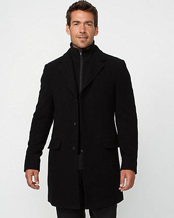 Velour Crombie Coat
