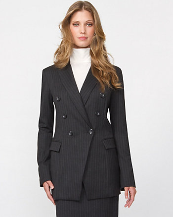 Chalk Stripe Double Breasted Blazer
