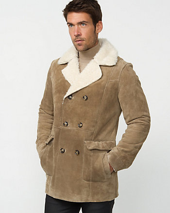 Suede Double Breasted Jacket