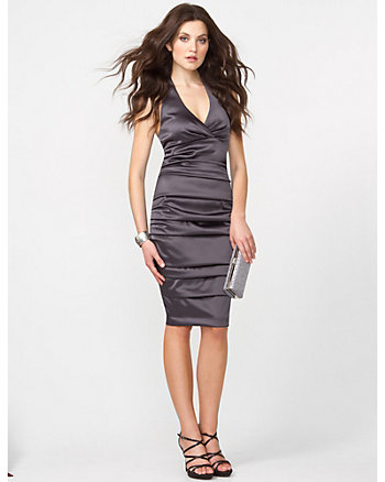 Melano Pleated Halter Dress
