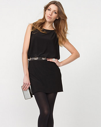 Bloused Bodice Cocktail Dress