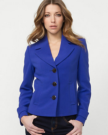 Double Weave Notch Collar Jacket