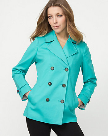 Cotton Blend Pea Jacket