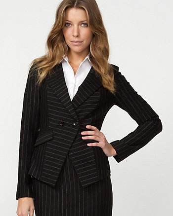 Ponte Striped Blazer