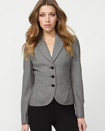 Spliced Notch Collar Blazer