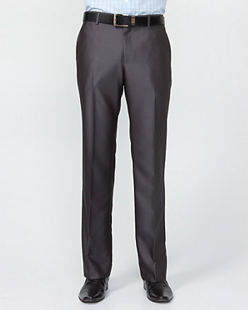 Shiny Herringbone Straight Leg Pant