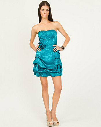 Jacquard Leopard Print Party Dress