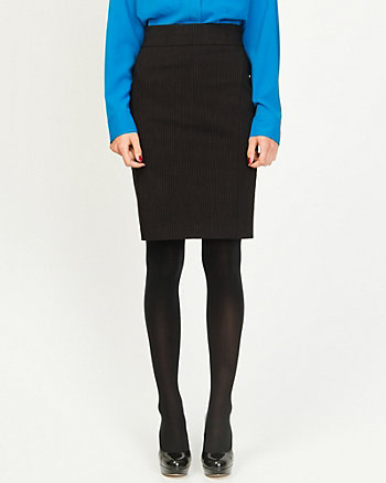 Lightweight Bengaline Stripe Pencil Skirt