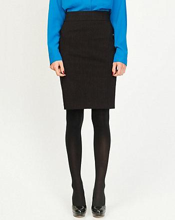 Lightweight Bengaline Stripe Pencil Skirt