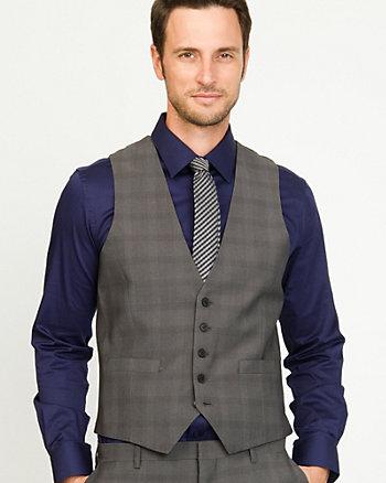 Woven Check City Fit Vest