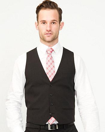 Stripe Wool Blend Contemporary Fit Vest