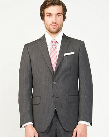 Stripe Wool Tailored Fit Blazer