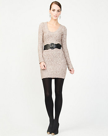 Belted Knit Mini Dress