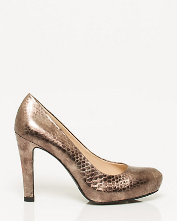 Snake Leather Pump