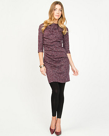 Tweed Double Knit Sweater Dress