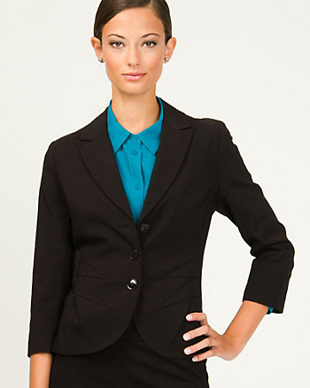 Lightweight Bengaline Notch Collar Blazer