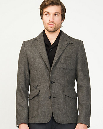 Two Tone Wool Blend  Blazer