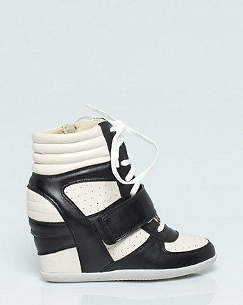 Leather-Like Colour Block Sneaker