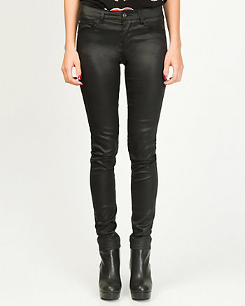 Coated Stretch Skinny Leg Jean
