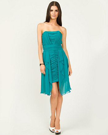 Robe cocktail en chiffon