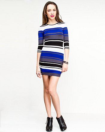 Viscose Stripe Sweater Dress