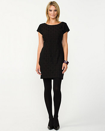 Ponte Knit Shift Dress