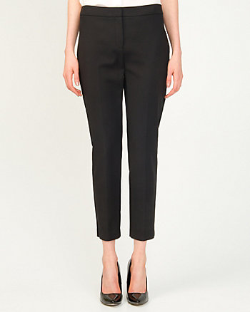Cotton Blend Cropped Skinny Pant