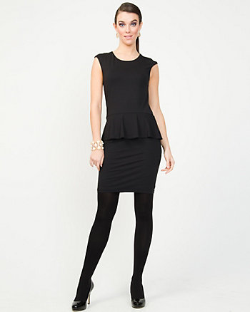 Jersey Peplum Dress