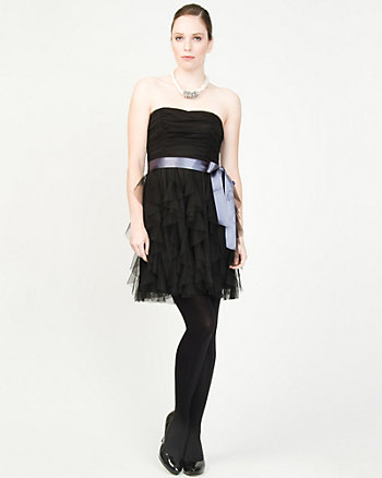 Ruffle Sweetheart Cocktail Dress