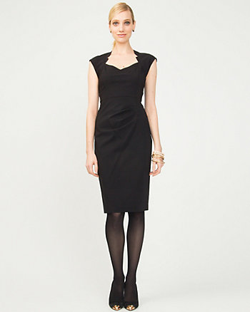 Bengaline Notch Collar Dress
