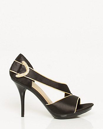 Satin Peep Toe Pump
