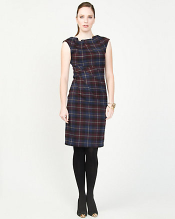 Knit Check Shift Dress