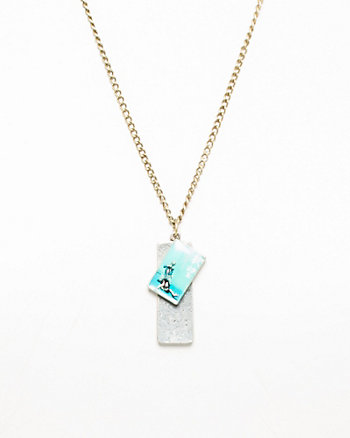 Double Metal Dog Tag Necklace