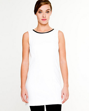 Crèpe de Chine Scoop Neck Dress