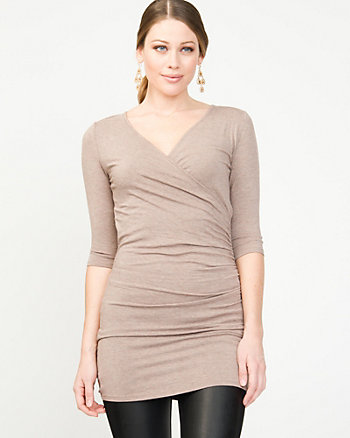 Ruched Knit Tunic