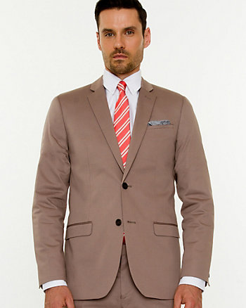 Cotton Sateen Slim Fit Blazer
