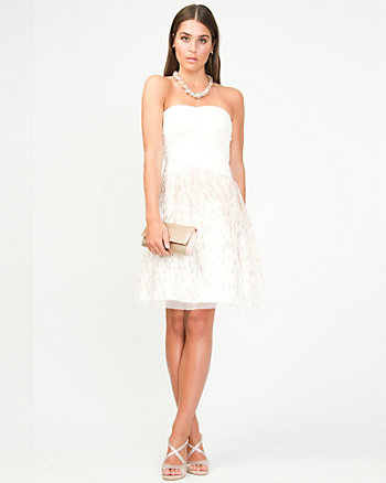 Sparkle Mesh Cocktail Dress