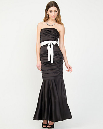 Stretch Satin Mermaid Gown