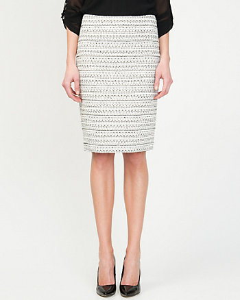 Bouclé Pencil Skirt