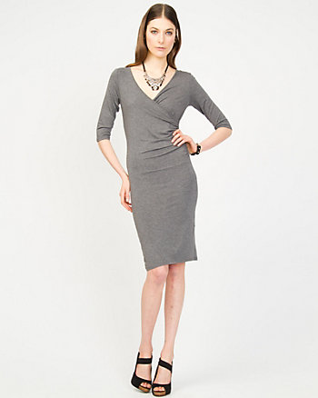 Jersey Knit Wrap Dress