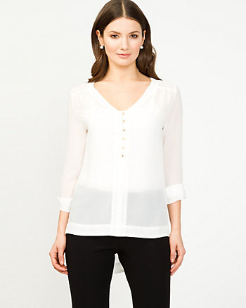 Chiffon High Low Blouse