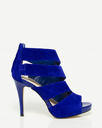 Suede Cut-Out Platform Sandal