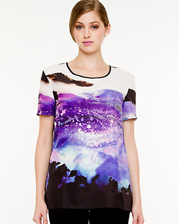 Abstract Print Tee Blouse