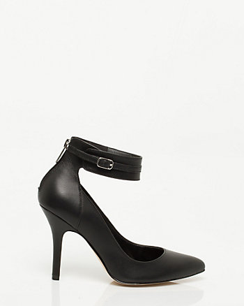 Leather Ankle Cuff Pump