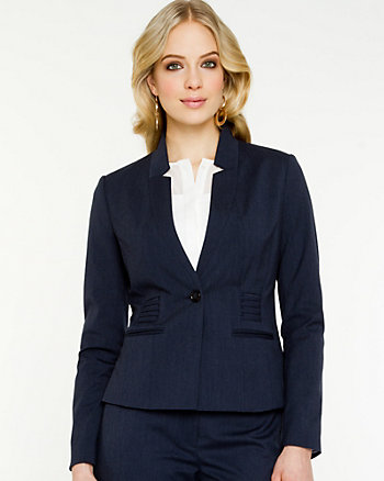 Stretch Inverted Collar Blazer