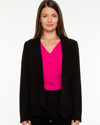 Triacetate Shawl Collar Blazer