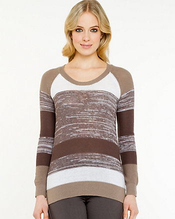 Stripe Scoop Neck Sweater