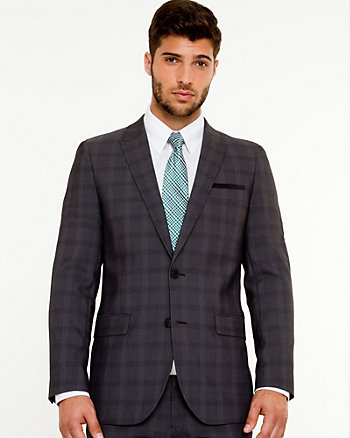 Woven Check Slim Fit Blazer