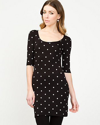 Polka Dot Knit Tunic